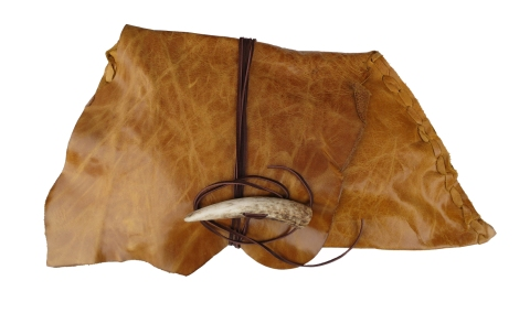 Carmel Leather Clutch With Antler Clasp By Jenne Rayburn