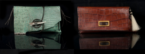 Designer Leather Clutches by Jenne Rayburn