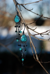 Turquoise Dangle Earrings By Jenne Rayburn
