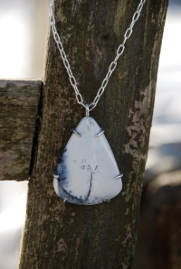 Jasper and Sterling Silver Necklace By Jenne Rayburn