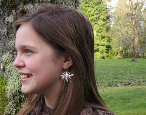 Sterling Silver Honey Bee Earrings By Jenne Rayburn