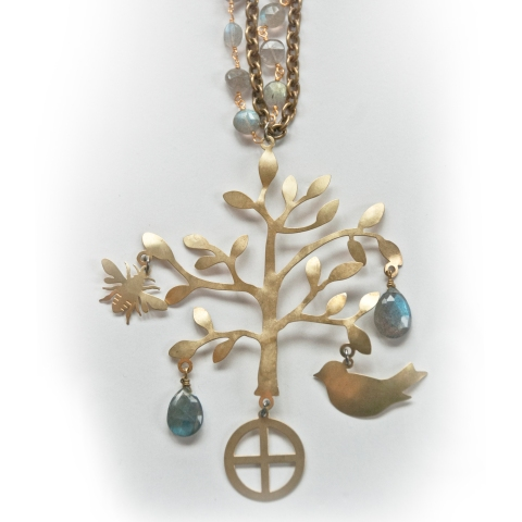 Handcrafted Tree of Life Pendant Necklace by Jenne Rayburn