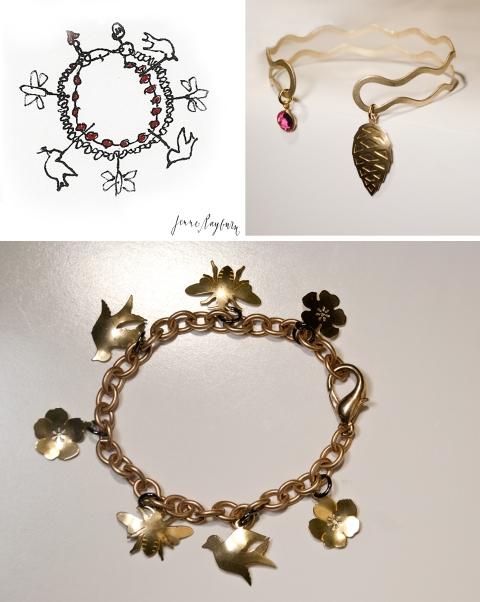 Handcrafted Story Charm Bracelet By Jenne Rayburn