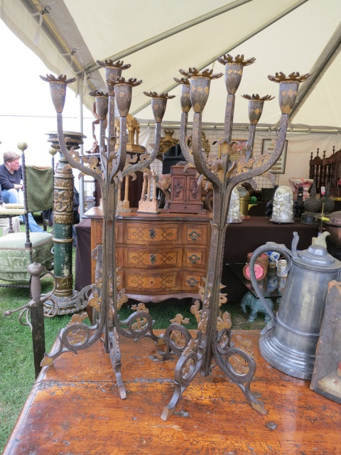 Arts and Crafts English Candlesticks