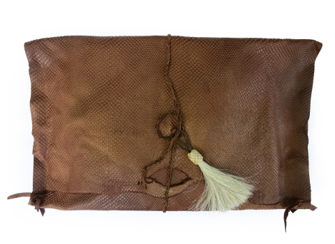 Handcrafted Metallic Leather Clutch by Jenne Rayburn