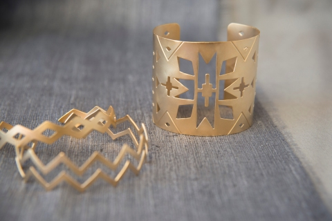 Handcrafted Cuff Bracelet by Jenne Rayburn