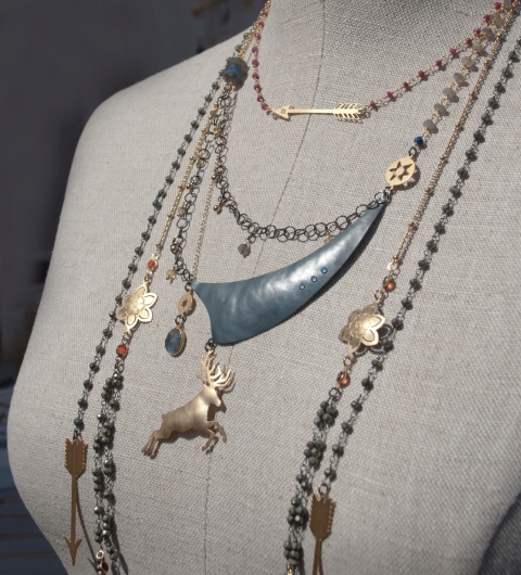 Handcrafted Totemic Necklaces by Jenne Rayburn