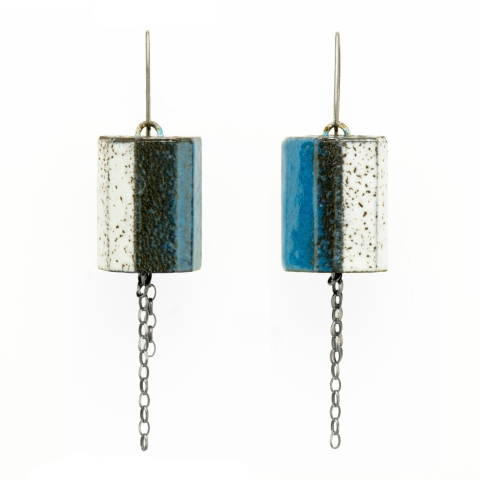 earrings-striped-blue-sterling-jenne rayburn